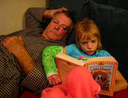 Reading_To_Dad_Age_8