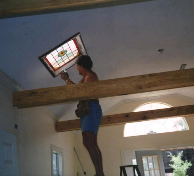 Jim_stained_glass_Install_1995