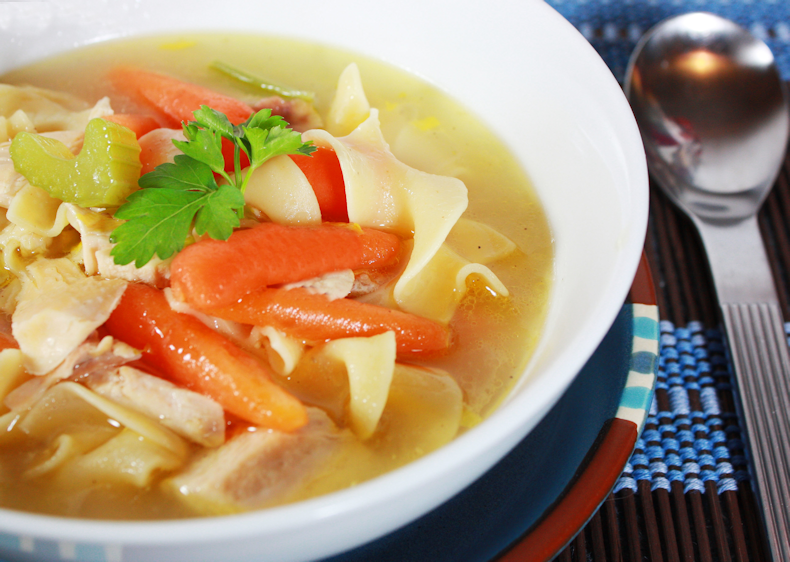 chicken-soup-with-spoon